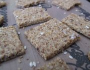 Use leftover almond pulp from your homemade almond milk to make crackers! via Gabby Ouimet http://bit.ly/12zps1i