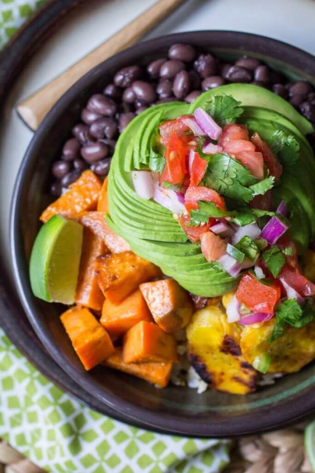 Vegan Cuban Bowl with Sweet Potatoes