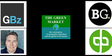the logos for the best green business blogs, websites and influencers