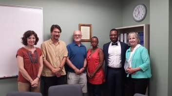 With my dissertation committee (l to r) Dorothy Daley, Charles Epp, Steven Maynard-Moody (Chair), Jennifer Hamer, and Rosemary O'leary