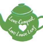 Teapot with words Love Compost, Love Loose Leaf