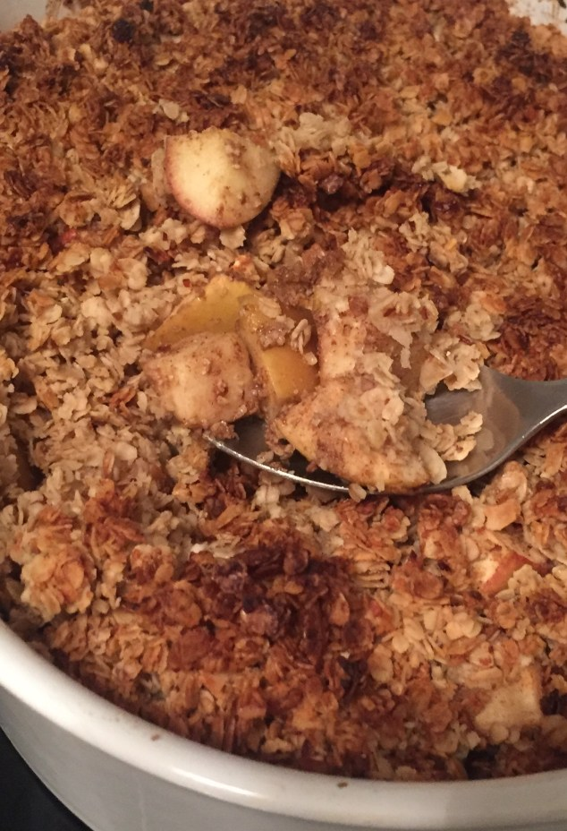 Apple crumble vegano