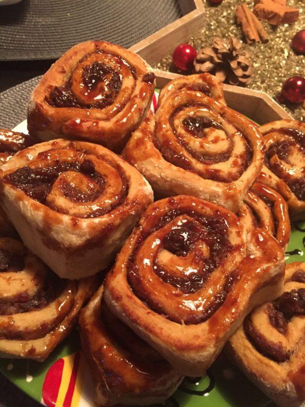 cinnamon rolls senza zucchero