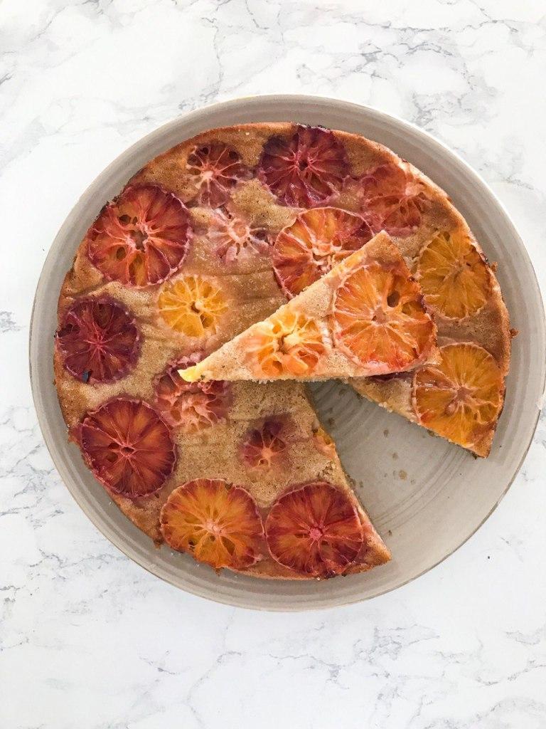 Torta alle arance rovesciata vegana