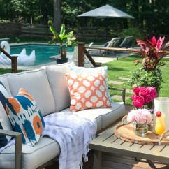 Double Adirondack Chairs With Umbrella Make Your Own Office Chair Cover Summer Outdoor Living Tour - The Greenspring Home