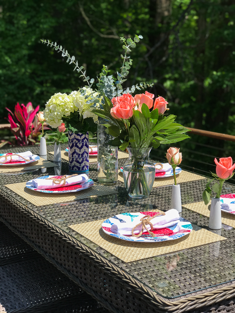 Summer Dining Table Decor Summer Outdoor Living Tour - The Greenspring Home