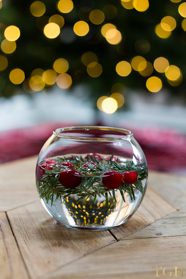 christmas decorating ideas for the kitchen bistro table diy holiday floating candles - greenspring home