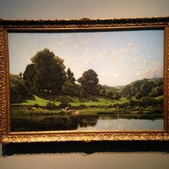 'A Meadow in the Bourbonnais, Morning', 1876 by Henri-Joseph Harpignies