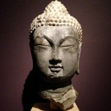 Head of a Buddha, Chinese, Tang Dynasty (618-906) 8th century