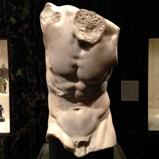 Torso of a Sayr, probably found in Italy, 1st or 2nd century C.E. Roman copy of a 3rd- or 2nd century B.C.E. Greek sculpture