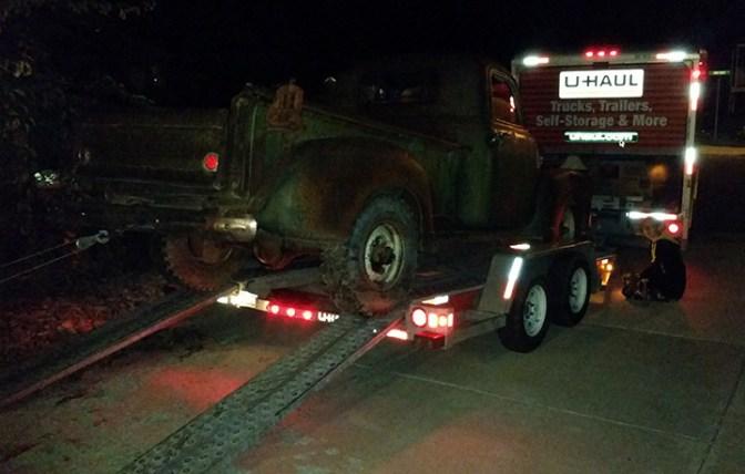 Unloading the same evening in Cedar City