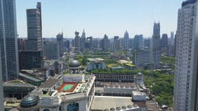 Shanghai, looking south from the 37th floor of the Marriott City Center. It is like this as far as the eye can see in every direction.