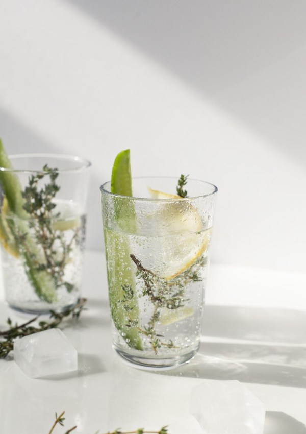 LIGHTENED UP GIN CUP COCKTAIL