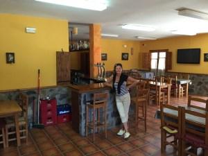 Bar and dining room at Camping La Serradora, Peralejos de las Truchas