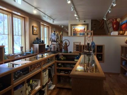 Beautiful gallery shop outside Zion NP