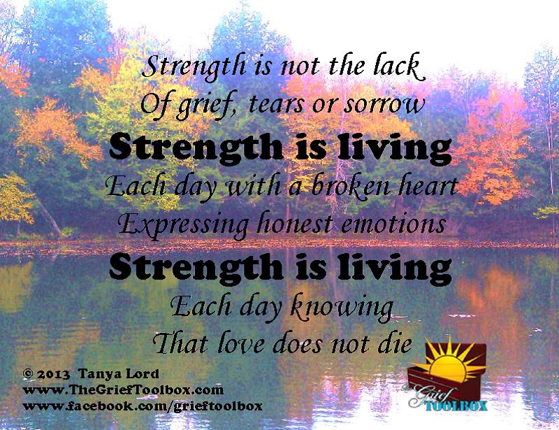 Strength Is In Living The Grief Toolbox