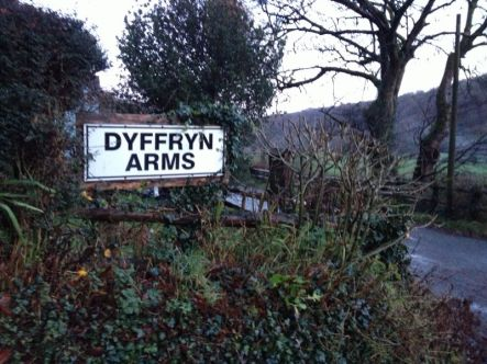 The Dyffryn Arms is situated along a secluded road (Photo attributed to Jordan Harris)