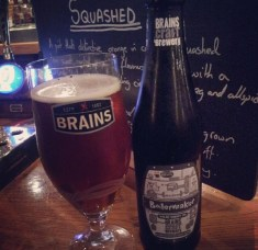 Boilermaker from Brains Craft send in by Danny drank in Cardiff Cottage.
