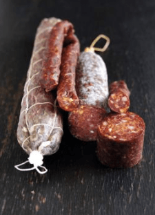 Fine examples of salami (Pic attributed to Trealy Farm)