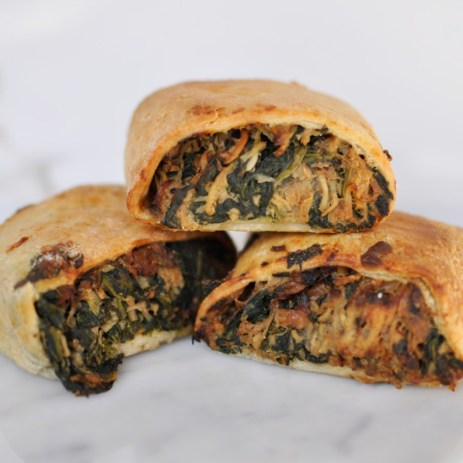 Their veggie roll with spinach, egg and maris peer (Pic courtesy of LJH)