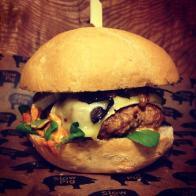 Their chorizo burger (Photo attributed to Slow Pig)