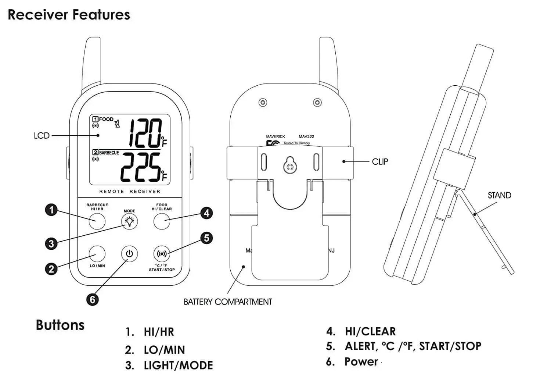 Maverick ET-732 Wireless Dual Probe BBQ, Smoker, Grill