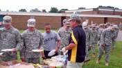 Feeding the Michigan National Guard before shipping off to Bagram.