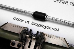 Making and accepting a job offer