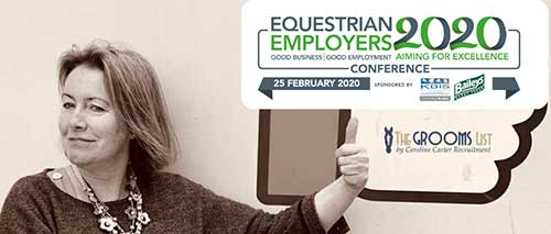 Equestrian Employers Conference 2020 - Guest Speaker Caroline Carter