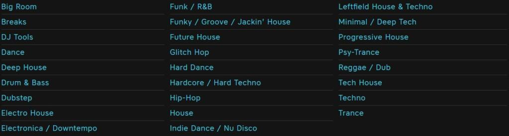 beatport new genres