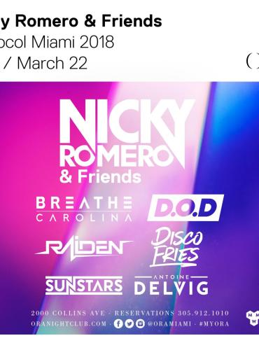 Protocol party miami nicky romero lineup