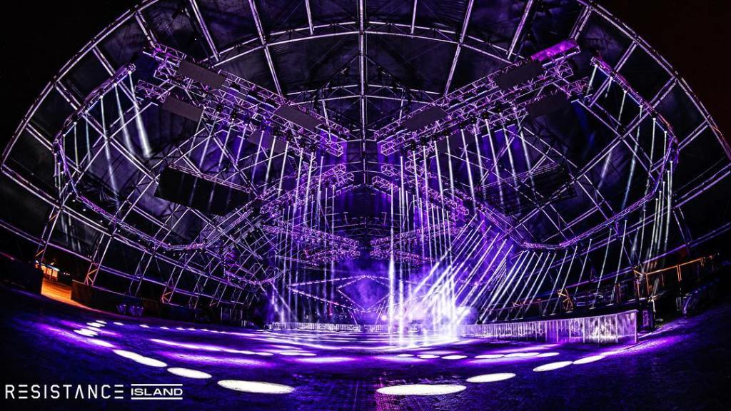 Ultra 2019 miami umf resistance island megastructure