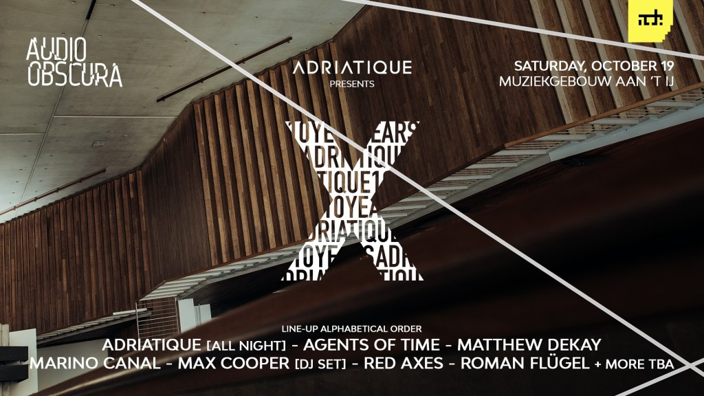 Audio Obscura Amsterdam Dance Event 2019 Adriatique X