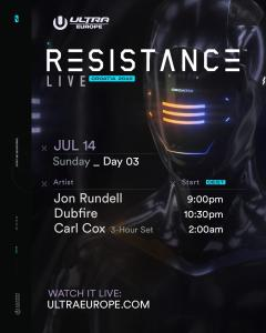 UMFTV Ultra Europe 2019 schedule RESISTANCE