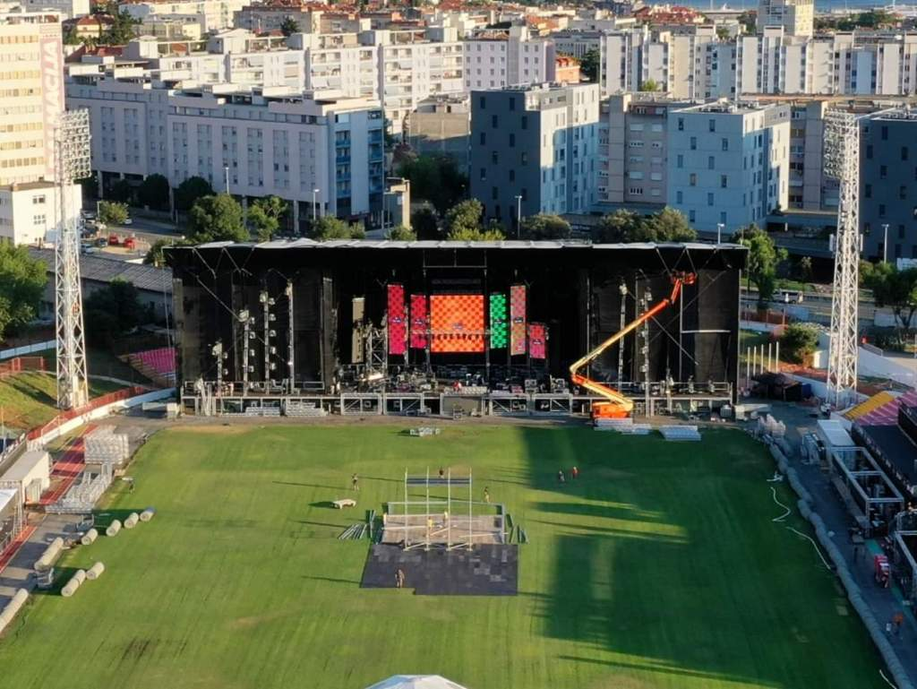 Ultra Europe mainstage drone