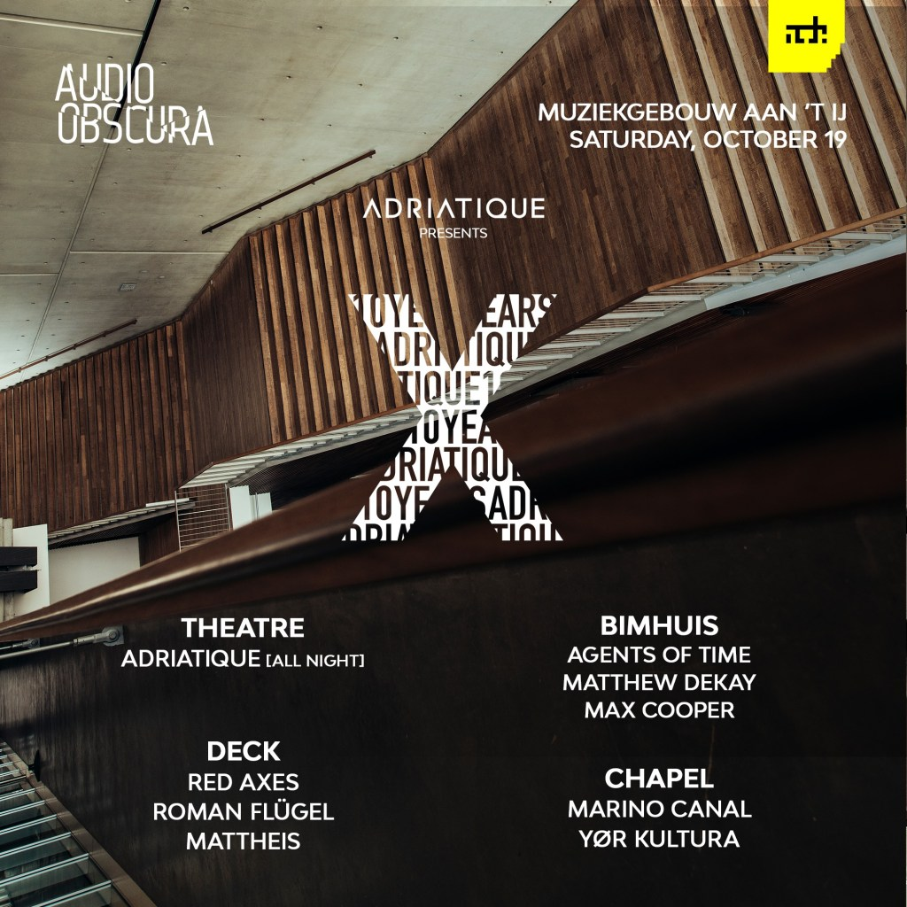 Adriatique X ADE 2019 Audio Obscura lineup