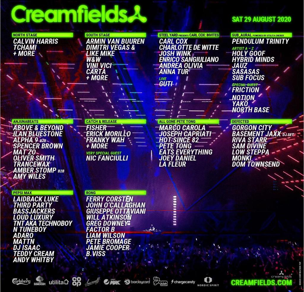 Creamfields 2020 lineup Saturday