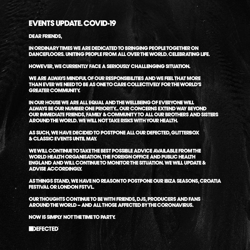 Defected Coronavirus press release