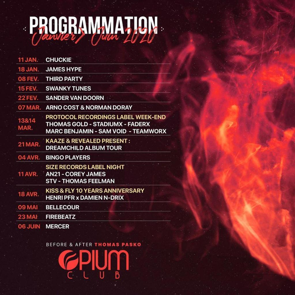Opium Toulouse schedule