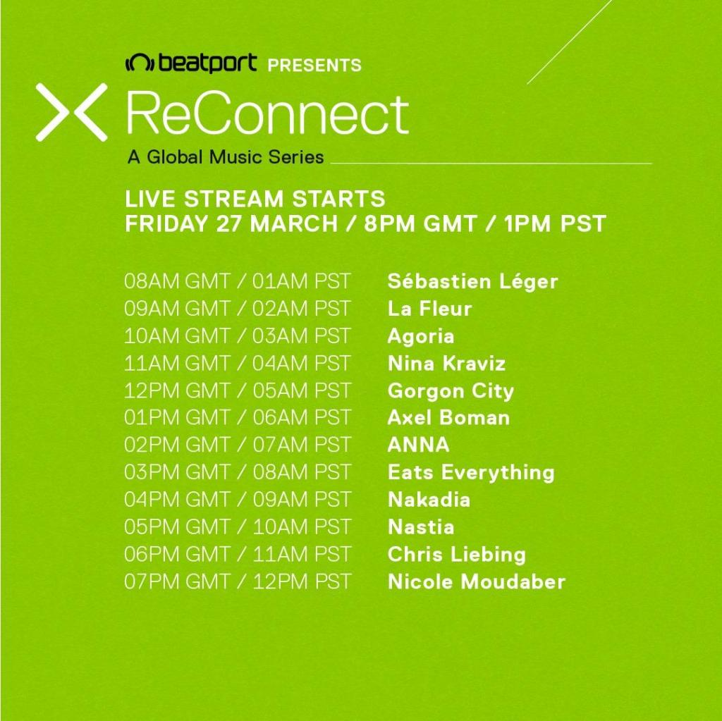 ReConnect Beatport LIVE schedule 2