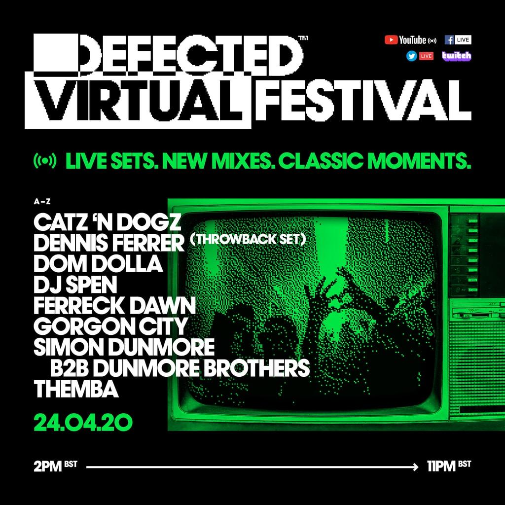 Defected Virtual Festival 4.0 lineup schedule