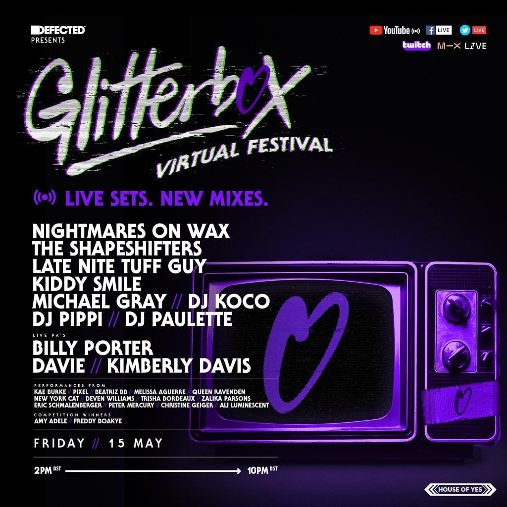 Glitterbox Virtual Festival 3 lineup schedule