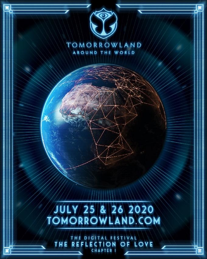 Tomorrowland Around the World digital music festival flyer