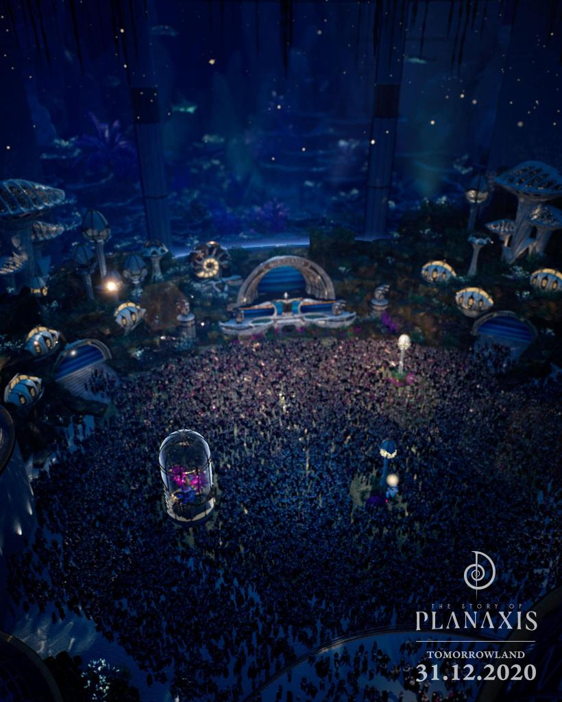 Planaxis stage Tomorrowland NYE 2020