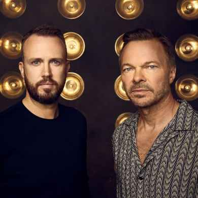 L-R Nick McCabe, CEO of Pacha Group & Pete Tong