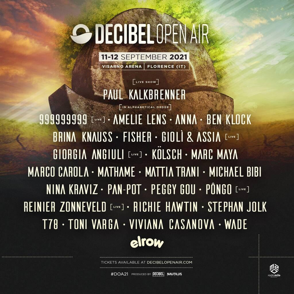 Decibel Open Air 2021 lineup