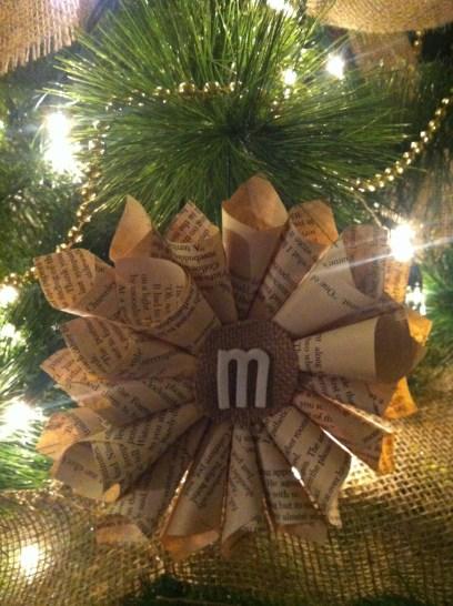 Homemade Book Ornament