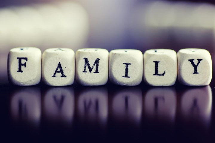 wood text cube family