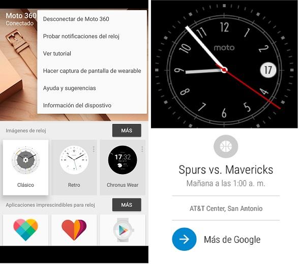 Moto 360 captura de pantalla