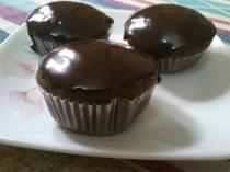 Chocolate Cupcake With Chocolate Glaze